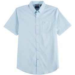 Dockers Mens Comfort Flex Grid Short Sleeve Shirt