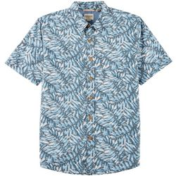 Dockers Mens Standard Fit Leaf Print Button Down Shirt