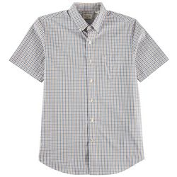 Dockers Mens Tattersall Plaid Short Sleeve Shirt