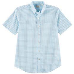 Dockers Mens Check Plaid Short Sleeve Shirt