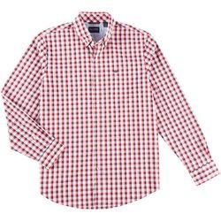 Dockers Mens Comfort Stretch Checkered Plaid Shirt