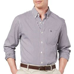 Dockers Mens Comfort Stretch Gingham Long Sleeve Shirt