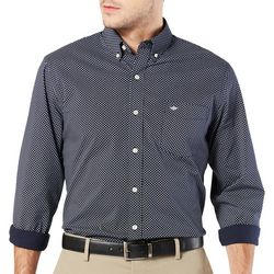Dockers Mens Comfort Stretch Diamond Print Long Sleeve Shirt