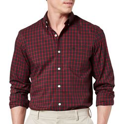 Dockers Mens Comfort Stretch Plaid Button Down Shirt