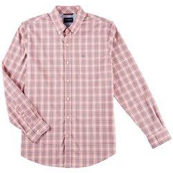 Dockers Mens Comfort Stretch Tartan Plaid Long Sleeve Shirt