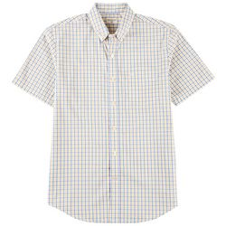 Dockers Mens Comfort Stretch No Wrinkle Plaid Woven Shirt