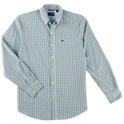 Dockers Mens Comfort Stretch Gingham Plaid Long Sleeve Shirt