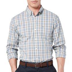 Dockers Mens Comfort Stretch Tattersall Plaid Shirt