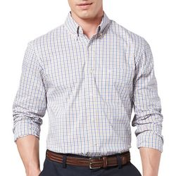 Dockers Mens Comfort Stretch Plaid Print Long Sleeve Shirt