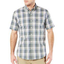 Dockers Mens Big & Tall Plaid Woven Short Sleeve Shirt
