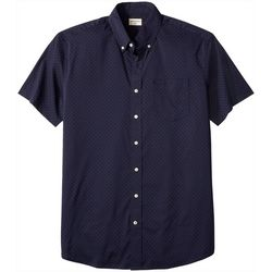 Dockers Mens Big & Tall Dot No Wrinkle Short Sleeve Shirt