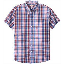 Dockers Mens Big & Tall Madras No Wrinkle Short Sleeve Shirt