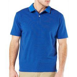 Dockers Mens Mini Stripe Performance Polo Shirt