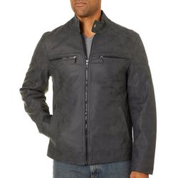 Urban Republic Mens Faux Suede Moto Jacket