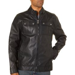 Urban Republic Mens Faux Leather Jacket