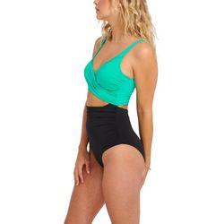 Everyday Sunday Womens Bicolor One Piece Swimsuit