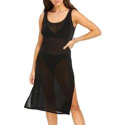Womens Mesh Sleeveless Dress Cover-Up