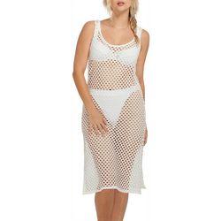 Everyday Sunday Womens Crochet Sleeveless Dress Cover-Up