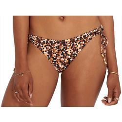 Womens Dots Side Tie Swim Bottoms