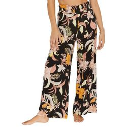 Everyday Sunday Womens Floral Cover-Up Pants