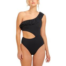 Womens One Shoulder One Piece Swimsuit