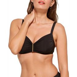 Womens Ruched Front Underwire Swim Top