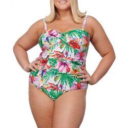 Noon Swim Plus Siesta Sands Bandeau One Piece Swimsuit