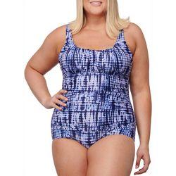 Noon Swim Plus Manasota Key Tie-Dye  One Piece Swimsuit
