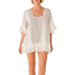 Ruffle Tie Front Cover-Up