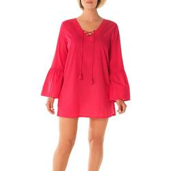 Womens Bell Sleeve Cover-Up