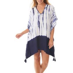 Womens Tie Dye V-Neck Cover-Up