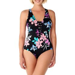 Womens Garden Lily Beaded Front Mio One Piece