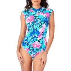 Womens Petal Show Cap Sleeve Mio One Piece