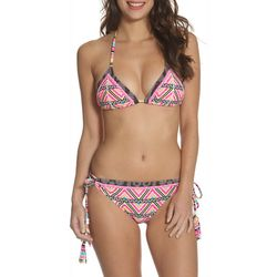 Sun and Sea Womens Geo Zag Kokua Side Tie Brief