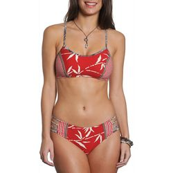 Sun and Sea Womens Neutral Palms Honi Hipster Swim Bottom
