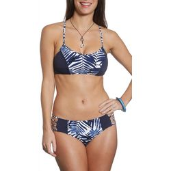 Sun and Sea Womens Blue Hawaii Honi Hipster Swim Bottoms