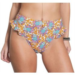 Sun and Sea Juniors Free Love Ruffle Swim Bottoms