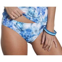 Juniors Shibori Foldover Swim Bottoms