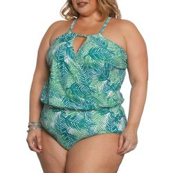 Sun and Sea Plus Ever Green Crossover Swimsuit