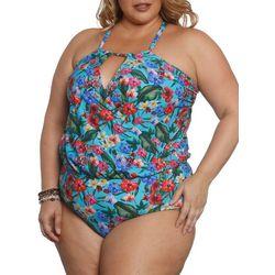Sun and Sea Plus Tiki Time One Piece Swimsuit