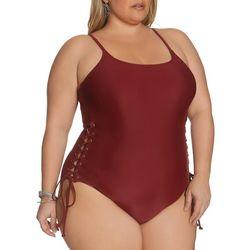 Plus Side Grommet One Piece Swimsuit
