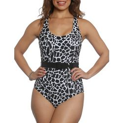 Sun and Sea Womens Giraffe Skin Belted One
