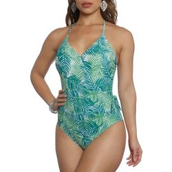 Sun and Sea Womens Evergreen Crossover One Piece