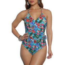 Sun and Sea Womens Tiki Time Crossover One Piece