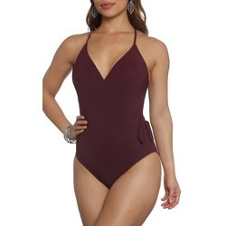 Sun and Sea Womens Solid Crossover One Piece