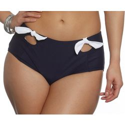 Sun and Sea Womens Solid Retro Swim Bottoms