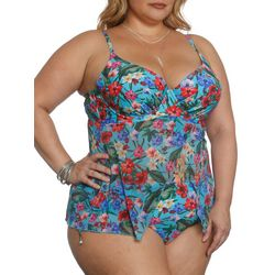 Sun and Sea Plus Tiki Time Flyaway Tankini Top
