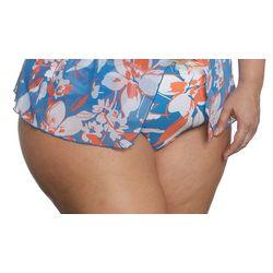 Plus Hibiscus Blue Swim Bottoms