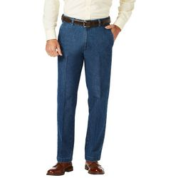 Haggar Mens Stretch Denim Trouser Pants