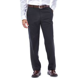 Haggar Mens Elco Stretch Slim Fit Pants